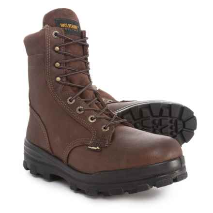 "Wolverine DuraShocks Work Boots - Waterproof, Insulated, Steel Toe, 8"" (For Men) in Brown - 2nds"