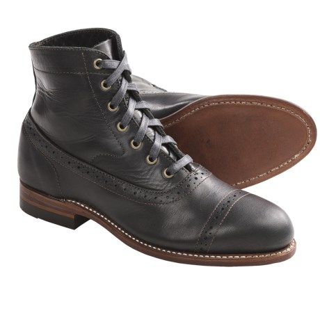 Wolverine Evelyn 1000 Mile Boots - Factory 2nds, Leather (For Women) in Black