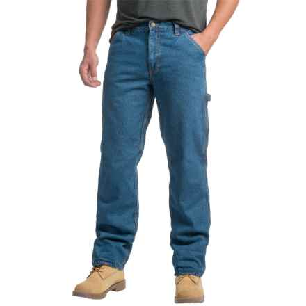 Wolverine Fleece-Lined Carpenter Jeans (For Men) in Blue Denim - Closeouts