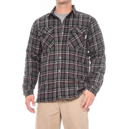 Wolverine Forester Lined Cotton Shirt Jacket - Insulated (For Men) in Granite - Closeouts