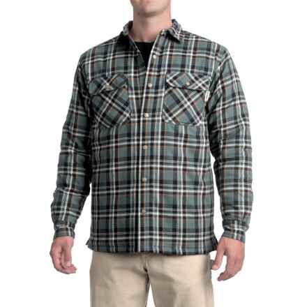Wolverine Forester Lined Cotton Shirt Jacket - Insulated (For Men) in Hemlock - Closeouts