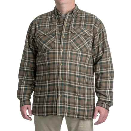 Wolverine Forester Lined Cotton Shirt Jacket - Insulated (For Men) in Retro Khaki - Closeouts