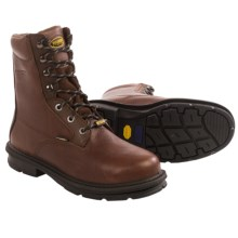 "Wolverine Fusion Max Steel Toe 8"" Work Boots - Leather (For Men) in Chocolate - Closeouts"