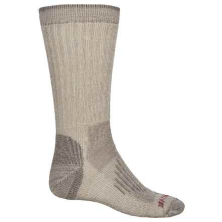 Wolverine Half-Cushion Hiking Socks - Merino Wool, Crew (For Men) in Khaki - Closeouts