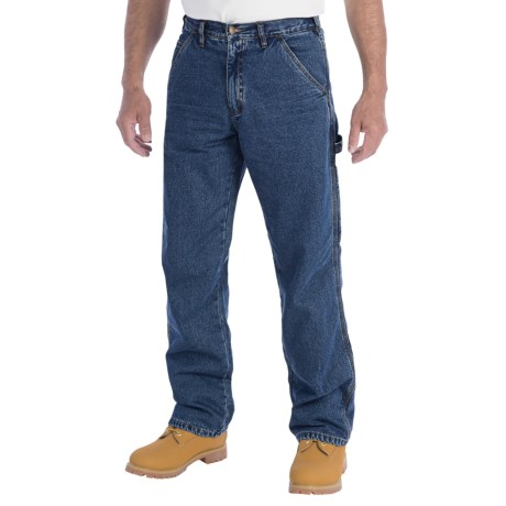 Wolverine Hammer Loop Insulator Pants - Flannel-Lined (For Men) in Med Denim