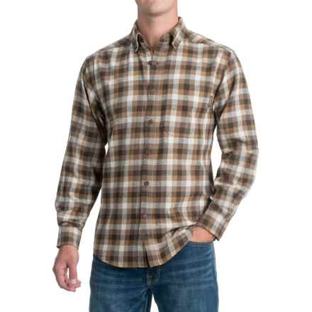 Wolverine Hammond Flannel Shirt - Long Sleeve (For Men) in Brown - Closeouts