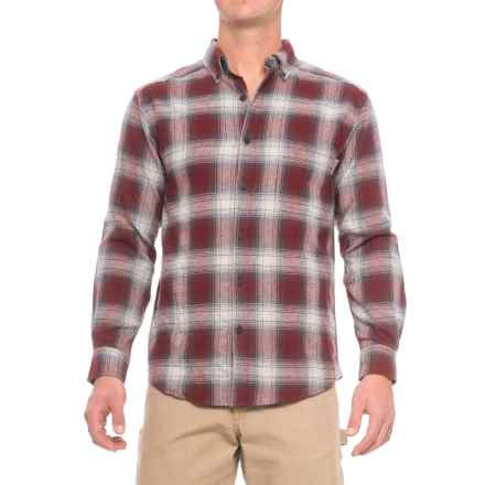 Wolverine Hammond Flannel Shirt - Long Sleeve (For Men) in Burgundy - Closeouts