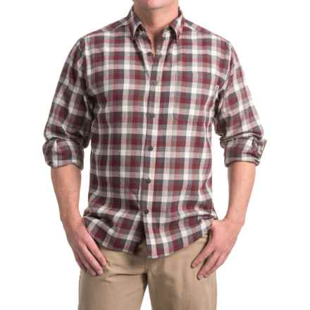 Wolverine Hammond Flannel Shirt - Long Sleeve (For Men) in Gray - Closeouts
