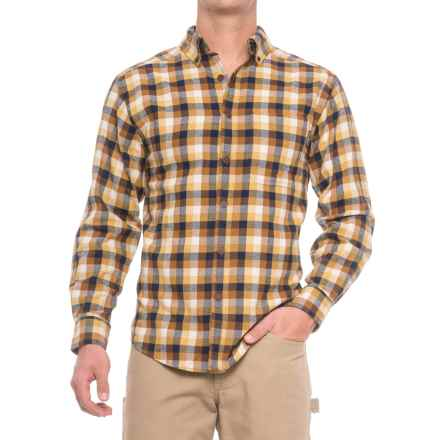 Wolverine Hammond Flannel Shirt - Long Sleeve (For Men) in Mustard - Closeouts