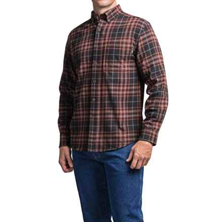 Wolverine Hammond Flannel Shirt - Long Sleeve (For Men) in Oxblood - Closeouts