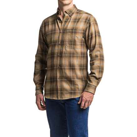 Wolverine Hammond Flannel Shirt - Long Sleeve (For Men) in Whiskey - Closeouts