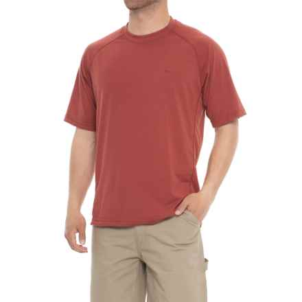 Wolverine Hybrid T-Shirt - UPF 30, Short Sleeve (For Men) in Barn Red - Closeouts