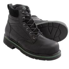 """Wolverine Hytest FootRests Oblique EH Work Boots - Steel Toe, 6"""" (For Men) in Black - 2nds"""