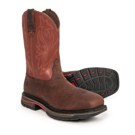 Wolverine Javelina EH Wellington Work Boots - Leather, Steel Safety Toe (For Men) in Ox Blood