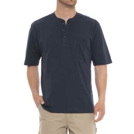Wolverine Knox Henley Shirt - Short Sleeve (For Men) in Navy - Closeouts