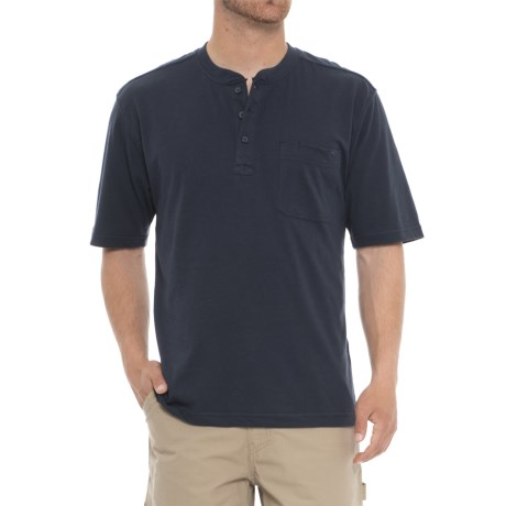 Wolverine Knox Henley Shirt - Short Sleeve (For Men) in Navy