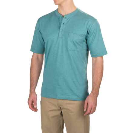 Wolverine Knox Henley Tech Shirt - Short Sleeve (For Men) in Cerulean - Overstock