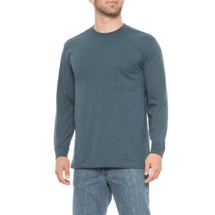 Wolverine Knox Pocket T-Shirt - Long Sleeve (For Men) in Dusk Blue - Closeouts
