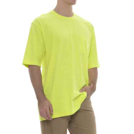 Wolverine Knox T-Shirt - Crew Neck, Short Sleeve (For Big and Tall Men) in Hi-Vis Green - Closeouts