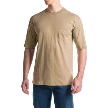 Wolverine Knox Tech T-Shirt - Short Sleeve (For Men) in Khaki - Overstock
