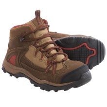 Wolverine Maggie Mid Work Boots - Steel Toe, Nubuck (For Women) in Brown/Red - Closeouts