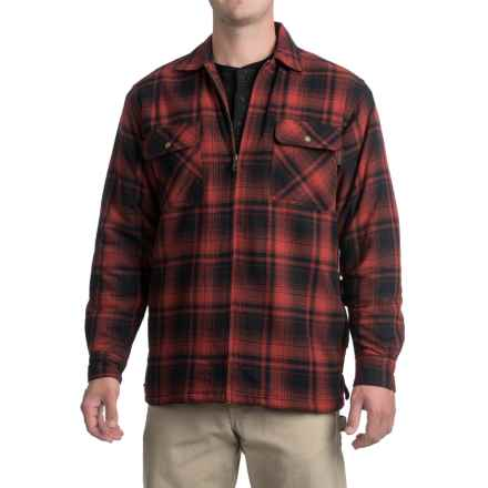 Wolverine Marshall Flannel Shirt Jacket - Sherpa Lining (For Men) in Cinnamon - Closeouts