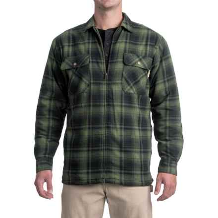 Wolverine Marshall Flannel Shirt Jacket - Sherpa Lining (For Men) in Forest - Closeouts