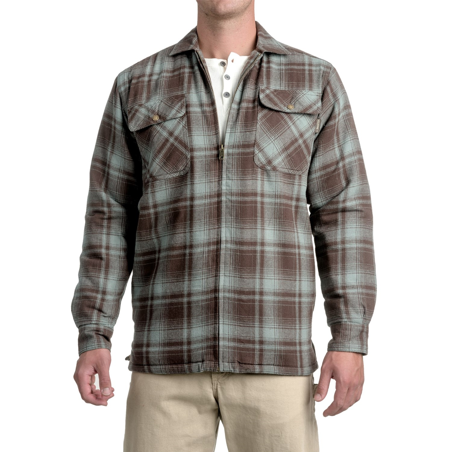 Wolverine Marshall Flannel Shirt Jacket For Men Save 60