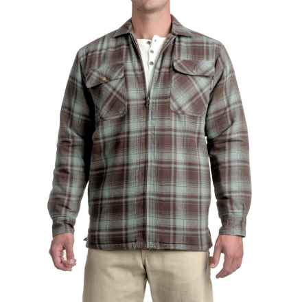 Wolverine Marshall Flannel Shirt Jacket - Sherpa Lining (For Men) in Hemlock - Closeouts