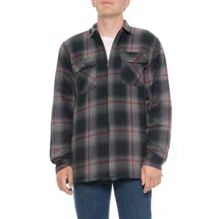 52b764665d Wolverine Marshall Lined Shirt Jacket (For Big and Tall Men) in Gray -  Closeouts