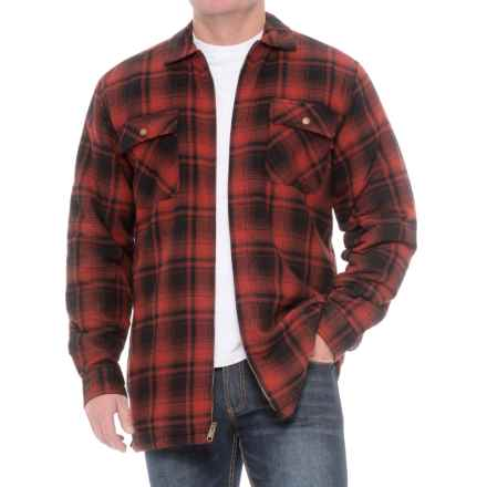 Wolverine Marshall Shirt Jacket (For Big and Tall Men) in Cinnamon - Closeouts