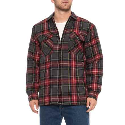 Wolverine Marshall Shirt Jacket (For Men) in Red Plaid - Closeouts