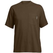 Wolverine Mason Pocket T-Shirt - Interlock Jersey Cotton, Short Sleeve (For Men) in Bison - Closeouts