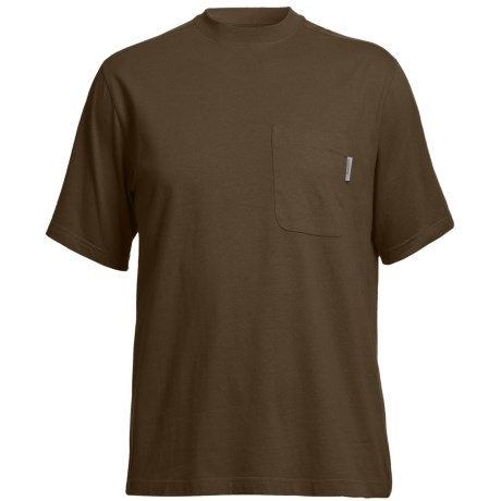 Wolverine Mason Pocket T-Shirt - Interlock Jersey Cotton, Short Sleeve (For Men) in Bison