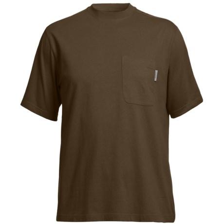 Wolverine Mason Pocket T-Shirt - Interlock Jersey Cotton, Short Sleeve (For Men) in Bison