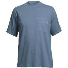 Wolverine Mason Pocket T-Shirt - Interlock Jersey Cotton, Short Sleeve (For Men) in Horizon Blue - Closeouts