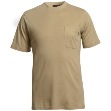 Wolverine Mason Pocket T-Shirt - Interlock Jersey Cotton, Short Sleeve (For Men) in Khaki - Closeouts