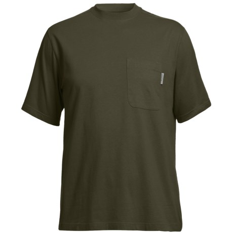 Wolverine Mason Pocket T-Shirt - Interlock Jersey Cotton, Short Sleeve (For Men) in Olive