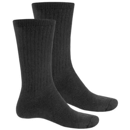 Wolverine Mid Socks - Crew, 2-Pack (For Men) in 001 Black - Closeouts