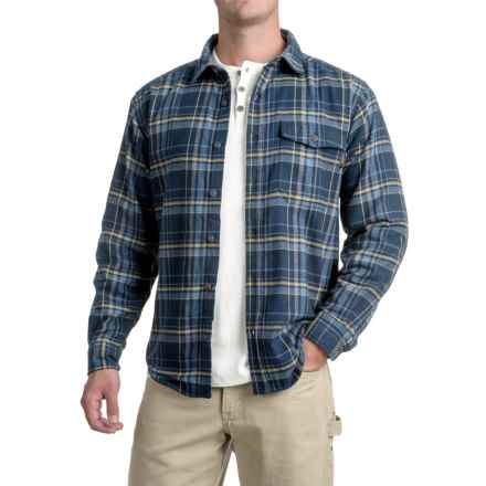 Wolverine Newago Flannel Shirt Jacket - Thermal Lining (For Men) in Blue - Closeouts