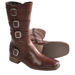 Wolverine No. 1883 Harriet Buckle Boots - Factory 2nds, Leather (For Women) in Red Brown
