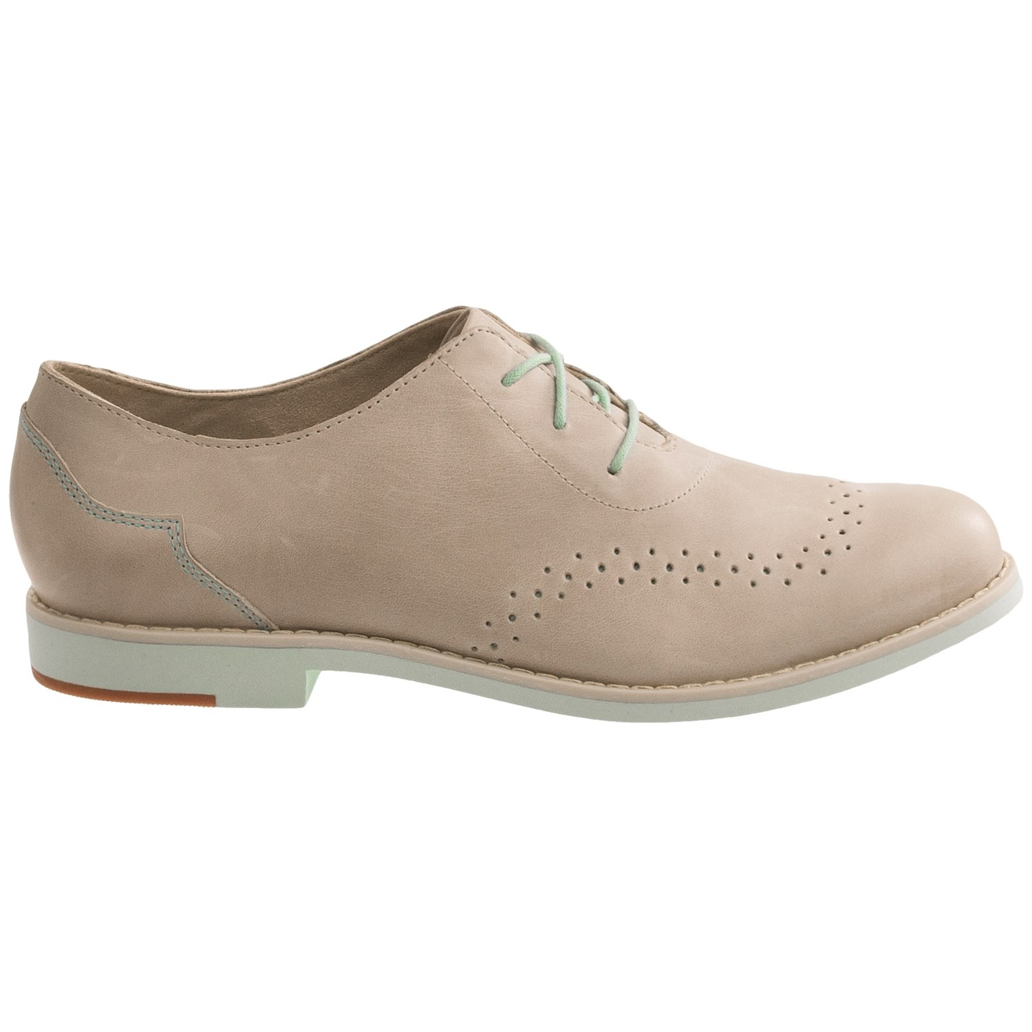 Womens Pointed Brown Oxford Shoes