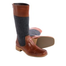 """Wolverine No. 1883 Lillie Boots - 12"""", Leather-Wool (For Women) in Red Brown/Grey - Closeouts"""