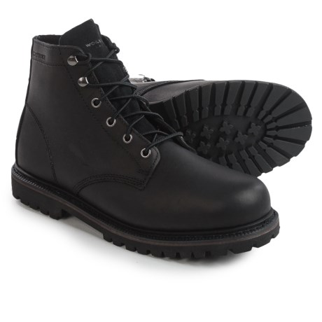 Wolverine No. 1883 Plainsman Boots - Leather, Lace-Ups (For Men) in Black