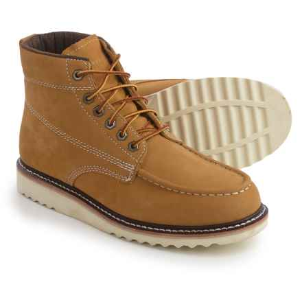 "Wolverine No. 1883 Ranger Moc-Toe Boots - Nubuck, 6"" (For Men) in Honey - Closeouts"