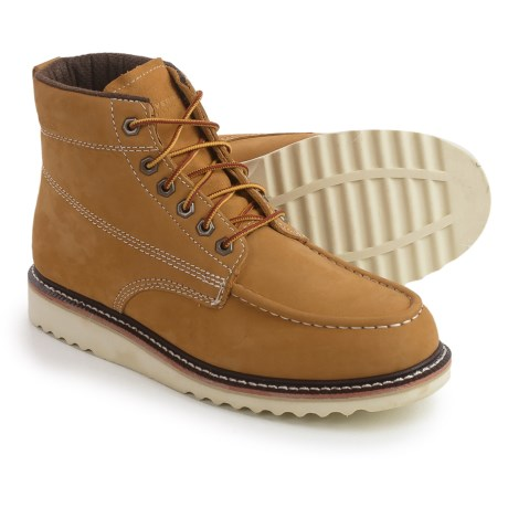 "Wolverine No. 1883 Ranger Moc-Toe Boots - Nubuck, 6"" (For Men) in Honey"
