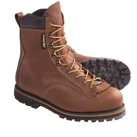 "Wolverine Northman Gore-Tex® Work Boots - Waterproof, 8"", Plain Toe (For Men) in Brown"