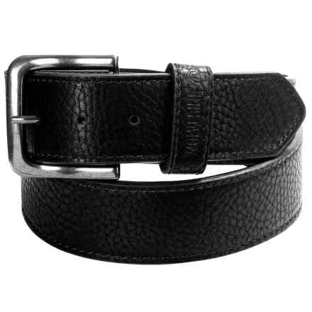 Wolverine Pebbled Leather Belt (For Men) in Black - Closeouts