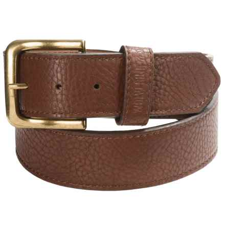 Wolverine Pebbled Leather Belt (For Men) in Brown - Closeouts