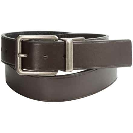 Wolverine Pebbled Leather Belt - Reversible (For Men) in Black/Brown - Closeouts